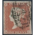GREAT BRITAIN - 1851 1d red-brown QV, plate 118, check letters MC, used – SG # 8