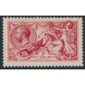 GREAT BRITAIN - 1913 5/- rose-carmine Sea Horses (Waterlow printing), MH – SG # 401
