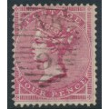 GREAT BRITAIN - 1857 4d rose-carmine Queen Victoria, Large Garter watermark, used – SG # 66
