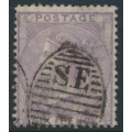 GREAT BRITAIN - 1855 6d lilac Queen Victoria, Emblems watermark, used – SG # 68