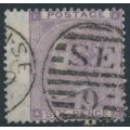 GREAT BRITAIN - 1862 6d deep lilac Queen Victoria, Emblems watermark, used – SG # 83