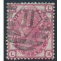 GREAT BRITAIN - 1875 3d rose Queen Victoria, Spray of Rose watermark, plate 16, used – SG # 143