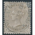 GREAT BRITAIN - 1880 4d grey-brown Queen Victoria, Imperial Crown watermark, plate 17, used – SG # 160