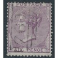 GREAT BRITAIN - 1855 6d lilac Queen Victoria, inverted Emblems watermark, used – SG # 68Wi