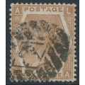 GREAT BRITAIN - 1872 6d chestnut Queen Victoria, Spray of Rose watermark, plate 11, used – SG # 122a