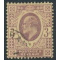 GREAT BRITAIN - 1906 3d pale purple/lemon KEVII definitive, used – SG # 233b
