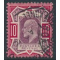 GREAT BRITAIN - 1902 10d dull purple/carmine KEVII definitive, used – SG # 254