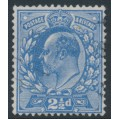GREAT BRITAIN - 1911 2½d bright blue KEVII definitive, perf. 14:14, used – SG # 276