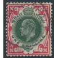 GREAT BRITAIN - 1912 1/- green/carmine KEVII definitive, used – SG # 314