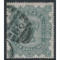 GREAT BRITAIN - 1878 10/- greenish grey QV, Maltese Cross watermark, used – SG # 128