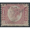GREAT BRITAIN - 1870 ½d rose-red Queen Victoria 'Bantam', plate 19, used – SG # 48