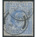 GREAT BRITAIN - 1902 10/- ultramarine KEVII definitive, used – SG # 265