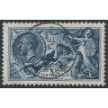 GREAT BRITAIN - 1934 10/- deep indigo Sea Horses, re-engraved, used – SG # 452