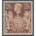 GREAT BRITAIN - 1939 2/6 brown King George VI definitive, MNH – SG # 476