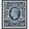 GREAT BRITAIN - 1939 10/- dark blue King George VI definitive, MH – SG # 478