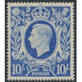 GREAT BRITAIN - 1942 10/- ultramarine King George VI definitive, MH – SG # 478b