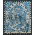 GREAT BRITAIN - 1867 2/- dull blue Queen Victoria, Spray of Rose watermark, plate 1, used – SG # 118