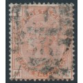 GREAT BRITAIN - 1880 1/- orange-brown QV, Spray of Rose watermark, plate 13, used – SG # 151