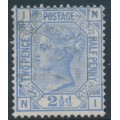 GREAT BRITAIN - 1881 2½d blue Queen Victoria, Imperial Crown watermark, plate 23, used – SG # 157