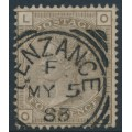 GREAT BRITAIN - 1882 4d grey-brown Queen Victoria, Imperial Crown watermark, plate 18, used – SG # 160