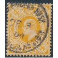 GREAT BRITAIN - 1909 4d pale orange King Edward VII definitive, used – SG # 240