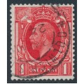 GREAT BRITAIN - 1924 1d scarlet KGV definitive, sideways Block Cypher watermark, used – SG # 419a