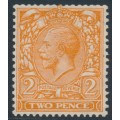 GREAT BRITAIN - 1924 2d orange KGV definitive, sideways Block Cypher watermark, MNH – SG # 421b