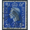 GREAT BRITAIN - 1937 2½d ultramarine KGVI definitive, inverted GVIR crown watermark, used – SG # 466Wi