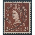 GREAT BRITAIN - 1954 2d red-brown QEII definitive, inverted multiple crown watermark, used – SG # 518Wi