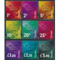 GREAT BRITAIN - 1994 1p to £5 Postage Dues set of 9, MNH – SG # D102-D110