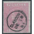 GREAT BRITAIN - 1874 5/- pale rose QV, Maltese Cross watermark, plate 2, used – SG # 127
