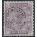 GREAT BRITAIN - 1883 2/6 deep lilac QV, anchor watermark, used – SG # 179