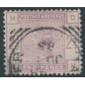GREAT BRITAIN - 1883 2d lilac Queen Victoria, crown watermark, used – SG # 189