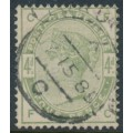GREAT BRITAIN - 1883 4d dull green Queen Victoria, crown watermark, used – SG # 192