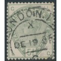 GREAT BRITAIN - 1883 5d dull green Queen Victoria, crown watermark, used – SG # 193