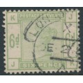 GREAT BRITAIN - 1884 6d dull green QV, crown watermark, used – SG # 194