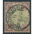 GREAT BRITAIN - 1887 4d green/deep brown QV Jubilee, used – SG # 205a