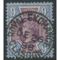GREAT BRITAIN - 1887 9d dull purple/blue QV Jubilee issue, used – SG # 209