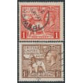 GREAT BRITAIN - 1925 British Empire Exhibition set of 2, used - SG # 432-433