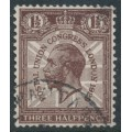 GREAT BRITAIN - 1929 1½d purple-brown UPU Congress, watermark sideways, used – SG # 436a
