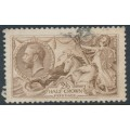 GREAT BRITAIN - 1918 2/6 pale brown Sea Horses, Bradbury-Wilkinson printing, used – SG # 415a
