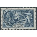 GREAT BRITAIN - 1934 10/- indigo Sea Horses, re-engraved, used – SG # 452