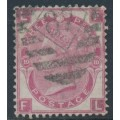 GREAT BRITAIN - 1867 3d rose Queen Victoria, Spray of Rose watermark, plate 10, used – SG # 103
