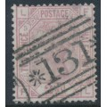 GREAT BRITAIN - 1876 2½d rosy mauve Queen Victoria, Orb watermark, plate 5, used – SG # 141