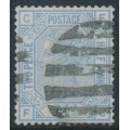 GREAT BRITAIN - 1880 2½d blue QV, inverted Orb watermark, plate 20, used – SG # 142Wi