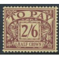 GREAT BRITAIN - 1924 2/6 purple on yellow Postage Due, GvR Block Cypher watermark, MH – SG # D18