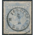 GREAT BRITAIN - 1883 10/- pale ultramarine Queen Victoria, anchor watermark, used – SG # 183a