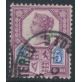 GREAT BRITAIN - 1888 5d dull purple/bright blue QV Jubilee issue, die II, used – SG # 207a