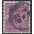 GREAT BRITAIN - 1905 2/6 intense purple KEVII definitive (chalk surfaced), used – SG # 262