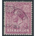 GREAT BRITAIN - 1920 6d reddish purple KGV, perf. 14, Simple Cypher watermark, used – SG # 385a